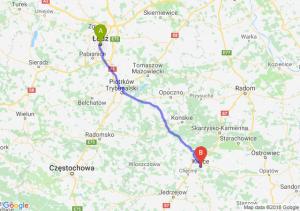 Trasa Łódź - Kielce