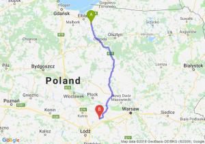 Trasa Pasłęk - Łowicz