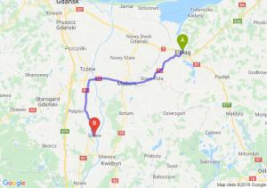 Trasa Elbląg - Gniew