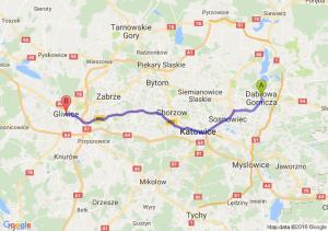 Dąbrowa Górnicza (śląskie) - Gliwice (śląskie)