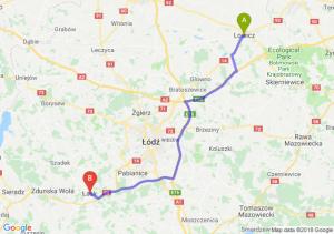Trasa Łowicz - Łask