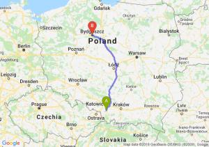 Trasa Pszczyna - Bydgoszcz