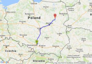 Trasa Sosnowiec - Ostrów Mazowiecka