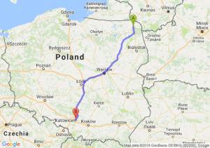 Trasa Suwałki - Sosnowiec