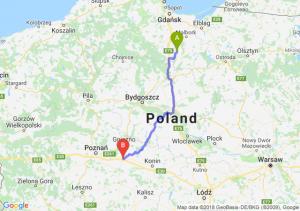 Trasa Gniew - Września