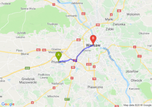 Trasa Pruszków - Warszawa