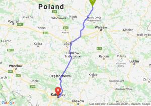 Trasa Ciechanów - Katowice