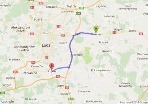 Trasa Brzeziny - Rzgów