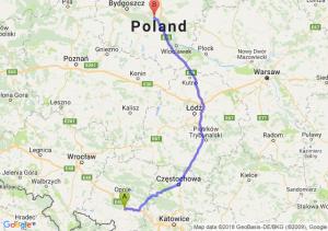 Trasa Krapkowice - Toruń