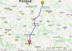 Trasa Płońsk - Sosnowiec