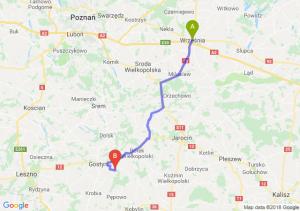 Trasa Września - Piaski