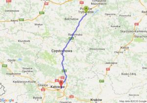 Trasa Piotrków Trybunalski - Sosnowiec