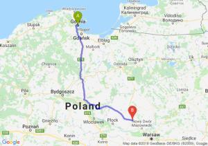 Trasa Gdynia - Płońsk
