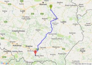 Garwolin (mazowieckie) - Limanowa (małopolskie)