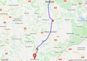 Trasa Białystok - Siemiatycze