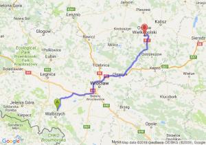 Trasa Świebodzice - Ostrów Wielkopolski