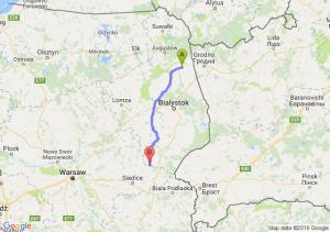 Dąbrowa Białostocka (podlaskie) - Drohiczyn (podlaskie)