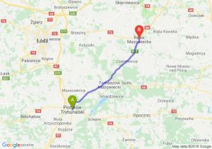 Trasa Piotrków Trybunalski - Rawa Mazowiecka