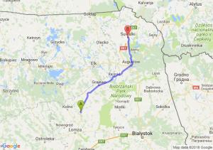 Trasa Stawiski - Suwałki