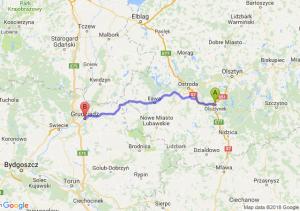 Trasa Olsztynek - Grudziądz