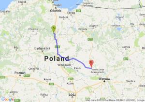 Trasa Warlubie - Płońsk