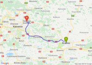 Trasa Kraków - Dąbrowa Górnicza