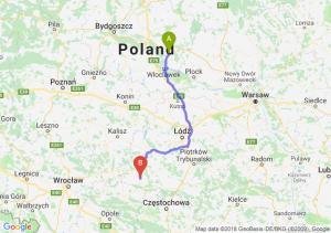 Trasa Lipno - Wieluń