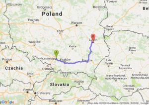 Trasa Sosnowiec - Lublin