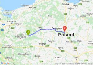 Trasa Drezdenko - Toruń