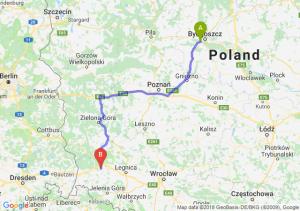 Trasa Białe Błota - Bolesławiec