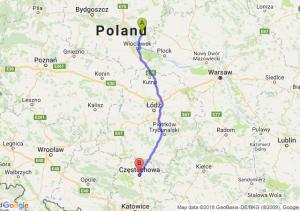 Trasa Lipno - Częstochowa