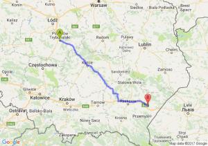 Trasa Piotrków Trybunalski - Jarosław