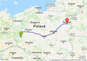 Trasa Nowa Sól - Białystok