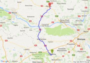 Trasa Żyrardów - Siedlin