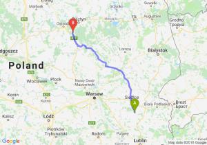 Trasa Łuków - Olsztynek
