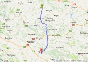 Jarocin (wielkopolskie) - Brzeg (opolskie)