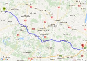Gostyń (wielkopolskie) - Złoczew (łódzkie)