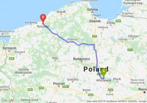 Trasa Włocławek - Koszalin
