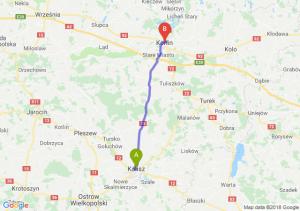 Trasa Kalisz - Konin