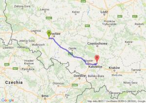Trasa Kąty Wrocławskie - Sosnowiec