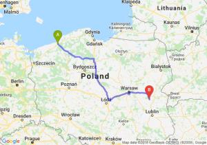 Trasa Koszalin - Łuków