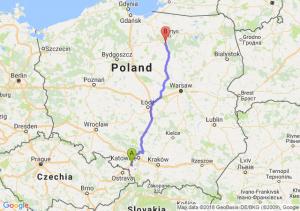 Trasa Żory - Olsztynek