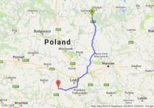 Trasa Olsztynek - Sieradz