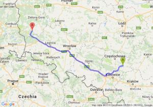 Trasa Bobolice - Żagań