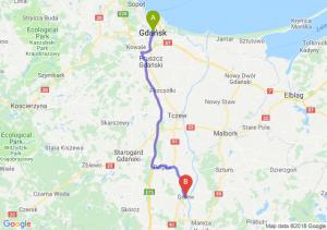 Trasa Gdańsk - Gniew