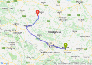 Trasa Kraków - Ostrów Wielkopolski