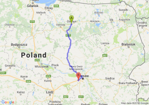 Trasa Olsztyn - Pruszków