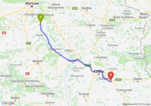 Trasa Góra Kalwaria - Piaski