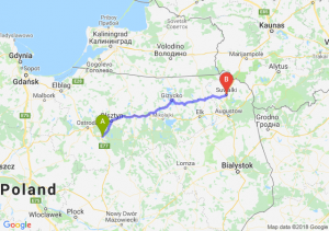 Trasa Olsztynek - Suwałki