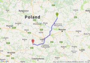 Trasa Ciechanów - Sieradz
